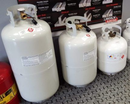 AllGas sells propane tanks and handles forklift propane